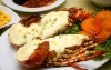 Grilled crayfish with cheese