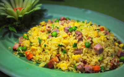 Fried rice with pork barbecue
