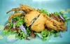 Fried sea crab with lam vien sauce