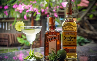 Cointreau and Jose Cuervo Cocktail